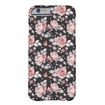 Elegant Nature Design Pink Flower Pattern iPhone 6 Case