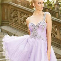 Lilac Petal short dress suitable for wedding reception / Bridesmaid / prom