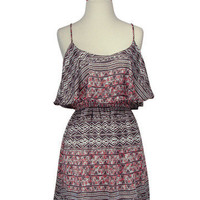 shopteddy ? Grey &amp; Pink Tribal Print Dress