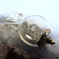 Herkimer Diamond Glass Globe Necklace