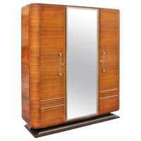 French Art Deco Palisander Rio Armoire, circa 1940s