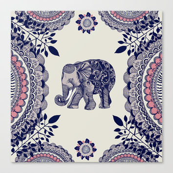 Elephant Pink Canvas Print by rskinner1122