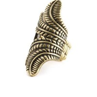 Etched Leaf Armor Ring: Charlotte Russe