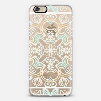 Happy Folk Floral in Soft Sage & Cream on Transparent iPhone 6 case by Micklyn Le Feuvre   Casetify