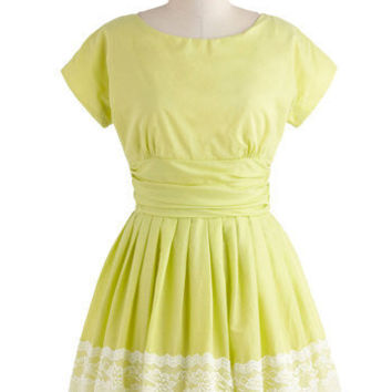 Keeping Low-Key Lime Dress | Mod Retro Vintage Dresses | ModCloth.com
