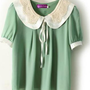Peter Pan Chiffon Babydoll Blouse