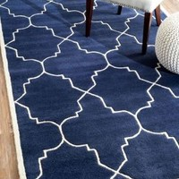 Rugs USA Savanna Lattice VE23 Navy Rug