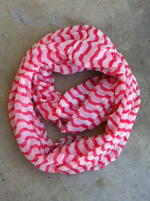 Candy Stripe Infinity Scarf [1142] - $14.00 : Vintage Inspired Clothing & Affordable Summer Dresses, deloom | Modern. Vintage. Crafted.