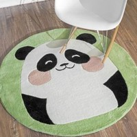 Rugs USA Inspire Cute Panda Green Rug