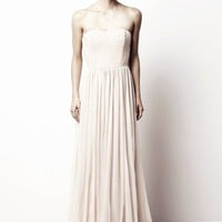 project wedding / strapless dress by Rachel Gilbert