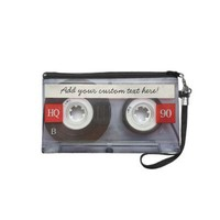 Fun Retro Cassette Tape Wristlet Purse from Zazzle.com