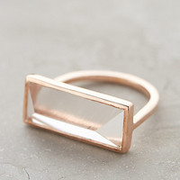 Quartz Rectangle Ring by Lulu Clear