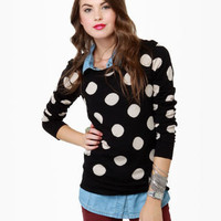 On the Dotted Line Polka Dot Sweater