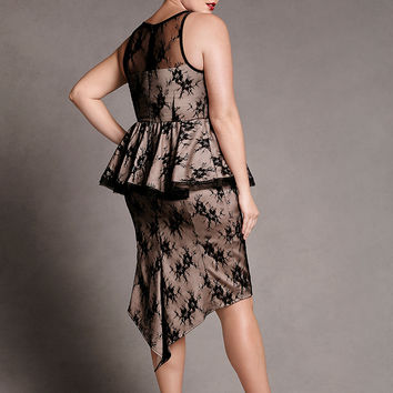 Lace peplum dress by Isabel Toledo