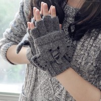 FunShop Elephant Knitted Gloves for Women F1104