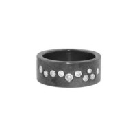 Oxidized Band with Brilliant Cut Diamonds - View All - New Arrivals - Ylang 23