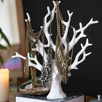 Coral Jewelry Tree Stand - White One