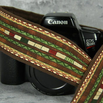 dSLR Western Camera Strap with pocket, Southwestern, Tribal, SLR, 204 w