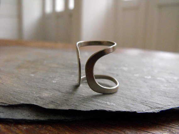 sterling silver curve ring