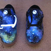 Galaxy Shoes // DVS // Glow in the Dark and Blacklight (UV Reactive) SALE sz 11 :D
