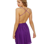 Sexy Purple Dress - Backless Dress - $46.00