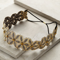 Winter Daisy Headband by Anthropologie Cream One Size Scarves
