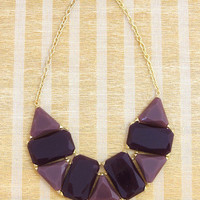 Avalon Deco Statement Necklace in Purple -  $28.00 | Daily Chic Accessories | International Shipping