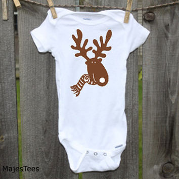 Christmas Moose Onesuits®, Baby's 1st Christmas, Winter, Toddler, kids