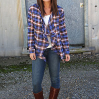 All About That Plaid Cardigan {Blue}