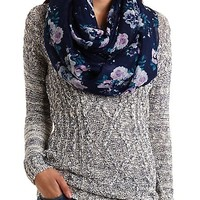 Marled Cable Knit Tunic Sweater by Charlotte Russe
