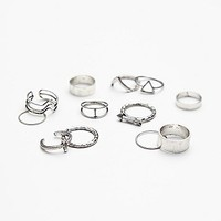 Free People Womens Mega Mix N Match Ring Set
