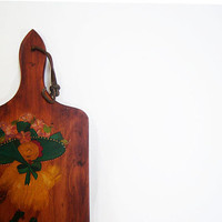Cute 70's Vintage Hen Wood Plaque