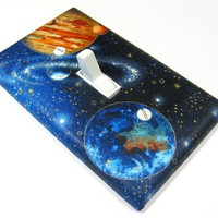 Outerspace Galaxy Light Switch Cover Planet Earth Mars Children Decor Outer Space Galaxies 721
