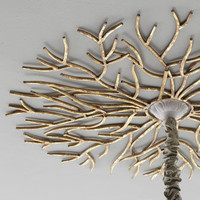 Golden Twig Ceiling Medallion