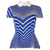 Buy Closet Stripe Colour Top, Blue | John Lewis