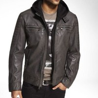 (MINUS THE) LEATHER HERITAGE FINISH  JACKET at Express