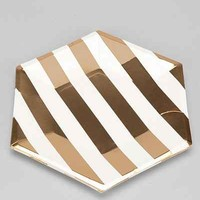 Party Pop Hexagon Striped Plate Set-