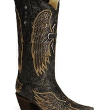 Corral black Gold Wing Cross A1967   Boot Country Online