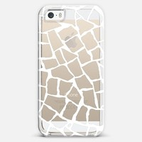 Mosaic Zoom White Transparent iPhone 5s case by Project M | Casetify