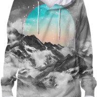 It Seemed To Chase the Darkness Away (Guardian Moon / Winter Moon) Unisex Hoodie Sweatshirt created by soaringanchordesigns | Print All Over Me