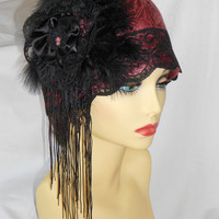 1920's inspired Vintage Turban style Cloche Hat Charleston Flapper Roaring 20's Great Gatsby