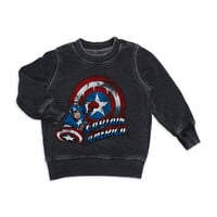 Mad Engine Boys 2-7 Vintage Captain America Sweatshirt