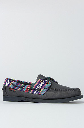 The Spinnaker Shoe in Navy Tribal