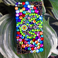 Sparkly Rainbow Custom iPhone 4/4S Case- Flight of the Fiesta