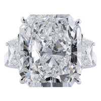 11.29 Carat Radiant Cut Diamond Platinum Ring