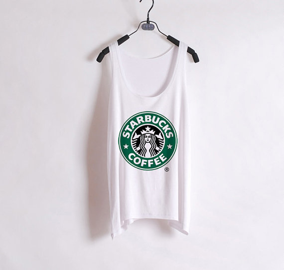 Starbucks - Women Tank Top - White- Sides Straight