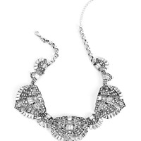 Silver Faceted Stone Necklace Set