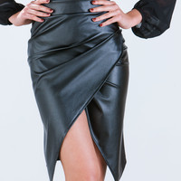 On Edgy Faux Leather Pencil Skirt