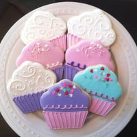 Decorated Cupcake Cookies, perfect birthday party favors