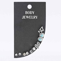 Bohemian Earring Multipack in Turquoise and Silver - Urban Outfitters